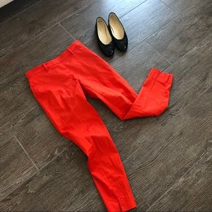 RED high waisted cropped pants